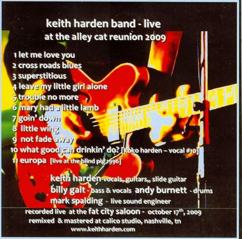 [keith harden band - live at alley cat reunion 2009]